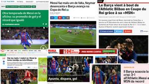 La prensa se rinde a Messi