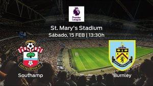Previa del partido: el Southampton recibe al Burnley