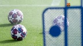 Primer entrenamiento del Barça con la mente puesta en el Nápoles
