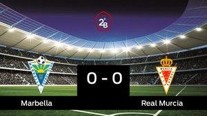 El Real Murcia saca un punto al Marbella a domicilio 0-0