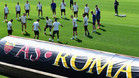 La Roma entrena de cara a las semifinales de la Champions League