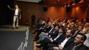 Sergi Parés, presentando el proyecto a socios y accionistas