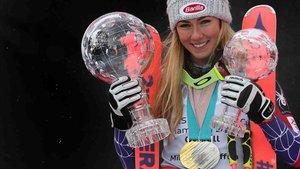 Shiffrin es la esquiadora más completa de todos los tiempos