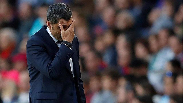 Valverde: Nos han ganado el partido en el primer tiempo