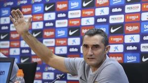 Valverde, en la rueda de prensa previa al partido ante el Girona