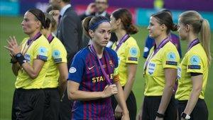 Vicky Losada, con la medalla de subcampeona