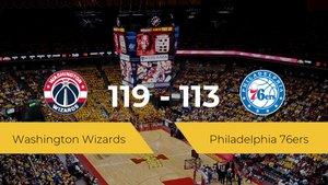 Washington Wizards se impone por 119-113 frente a Philadelphia 76ers
