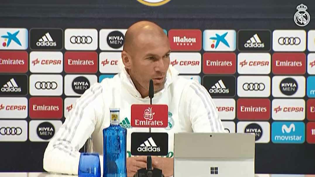 Zidane: No quiero que cambie la plantilla, pero hay más gente que decide cosas