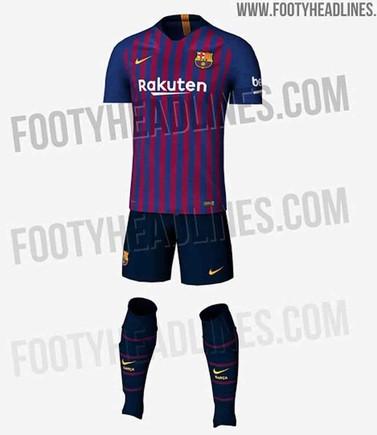 La primera equipación del FC Barcelona 2018   2019 e37bd8a2f03dc