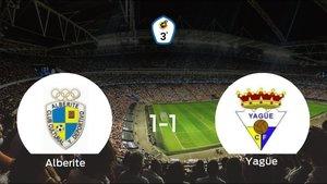 El Alberite y el Yagüe se reparten los puntos tras su empate a uno