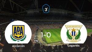 El Alcorcón B se impone por la mínima al Leganés B (1-0)