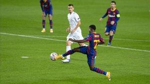 Ansu Fati marcó un gol en el debut del Barça en la Champions 2020/21