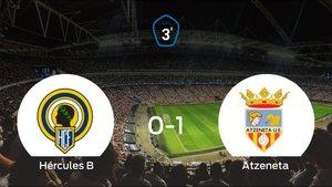 El Atzeneta se impone al Hércules de Alicante B y consigue los tres puntos (0-1)