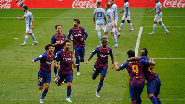 El Barça se deja dos puntos en un buen partido en Vigo