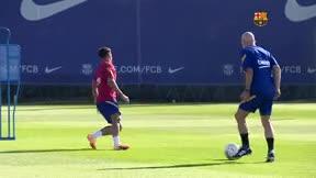 El Barça se entrena con Coutinho