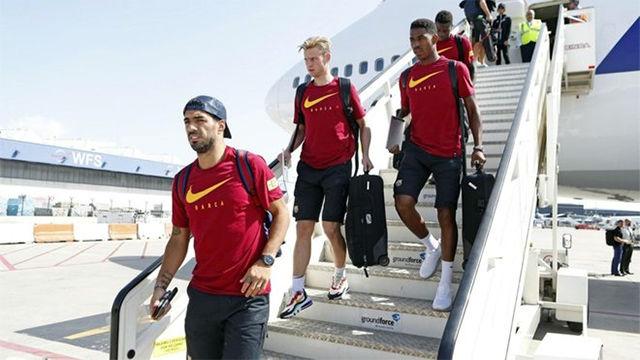 El Barça ya está en la Ciudad Condal