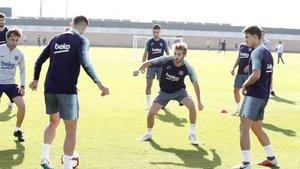 El Barcelona realizó la última sesión de entrenamiento de la semana