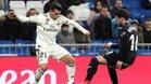 Brahim Díaz encara a un rival en el que era su debut con el Real Madrid