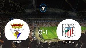 El CD Comillas se impone al Yagüe y consigue los tres puntos (0-1)