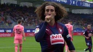 Cucurella marcó su primer gol en LaLiga contra el Barça