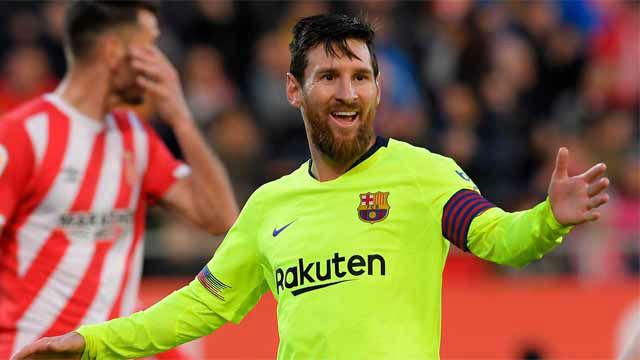 Delicatessen de gol: Messi cerró el marcador en Montilivi con un golazo de vaselina