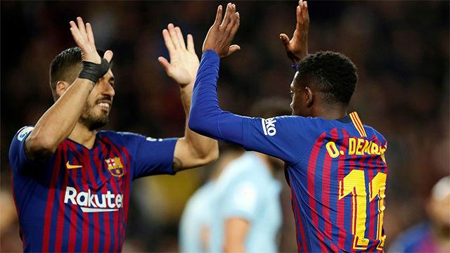 Dembélé cerró el año con otro gol