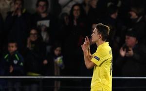Denis Suárez celebra un gol en El Madrigal