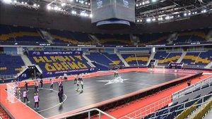El equipo se entrenó en el impresionante Almaty Arena
