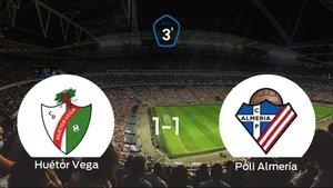 El Huétor Vegay el Poli Almeríase reparten los puntos en el Municipal Las Viñas (1-1)