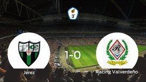 El Jerez vence 1-0 al Racing Valverdeño en el Manuel Calzado Galván