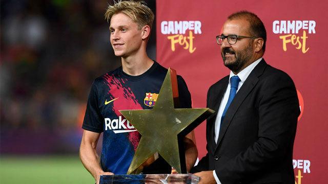De Jong, elegido MVP del Trofeo Joan Gamper