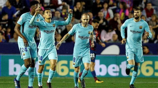 LALIGA | Levante - FC Barcelona (5-4): El doblete de Coutinho