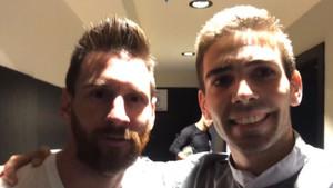 Leo Messi y Martín Galli se hicieron un selfie que llenó de felicidad al joven argentino de 27 años