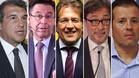 Los cinco candidatos a la presidencia del FC Barcelona