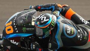 Luca Marini en acción