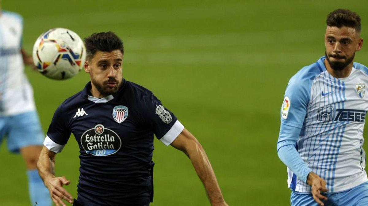 Málaga y Lugo se reparten los puntos