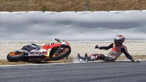 Marc Márquez tuvo un accidentado GP de Catalunya