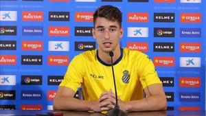 Marc Roca durante la rueda de prensa