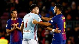 Maxi Gómez y Luis Suárez mantienen una buena relación