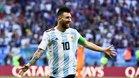 Messi con la camiseta de Argentina en Rusia
