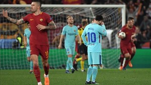 Messi, desolado ante Dzeko