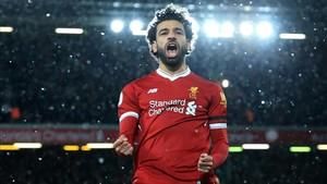 Mohamed Salah, máximo goleador de las ligas europeas