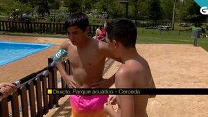 El momento en esta piscina de Galicia que se ha hecho viral