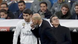 Morata, un ilustre ignorado por Zidane en los grandes partidos