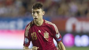 Munir en el partido de la selección ante Macedonia