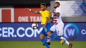Neymar fue protagonista ante Estados Unidos