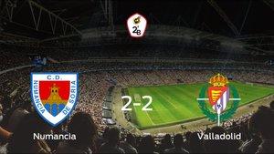 El Numanciay el Valladolid Bse reparten los puntos y empatan 2-2