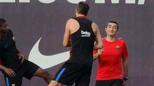 Piqué y Valverde, en una imagen de archivo