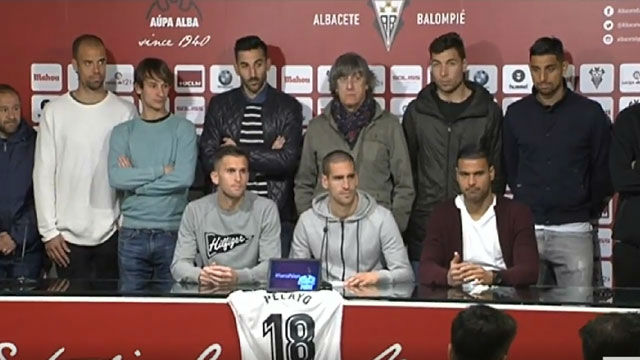 La plantilla del Albacete se reúne para dar la rueda de prensa