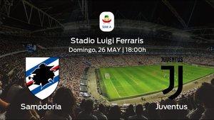 Previa del partido: Sampdoria - Juventus, partido de la última jornada